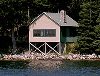One of 15 cottages, Boathouse Cottage was once the boathouse for Shore Oaks.