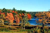 Each season brings beautiful tones to Oakland House and environs. Nearby Walker Pond in fall colors!