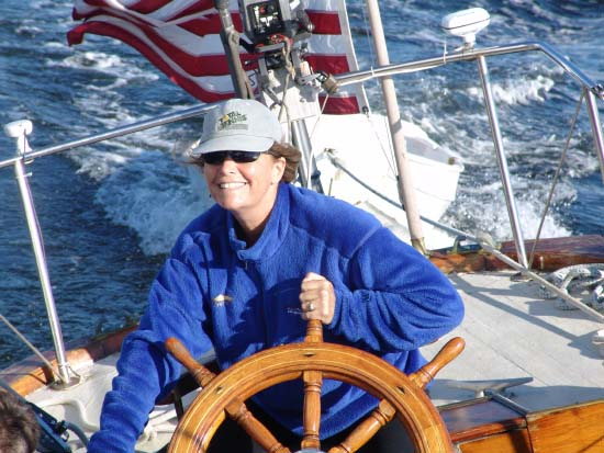woman at helm of viva